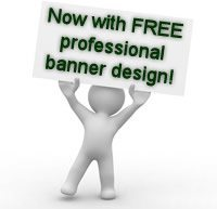 Now with FREE professional banner design!